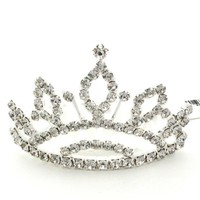 White Rhinestone Wedding Tiara(00009) at Online Fashion Jewelry Store Gofavor