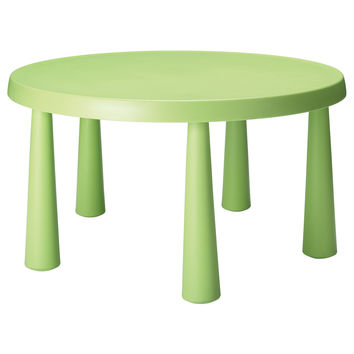 Mammut children 39 s table light green 33 from ikea baby for Table lit ordinateur ikea