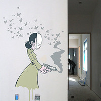 The Upper Playground Butteryfly Gun Wall Decal