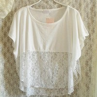 White Blouse With Lace from Charmaco