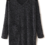 @Free Shipping@ Women Wool Blend Grey Dress One Size omss005g from Voguegirlgo