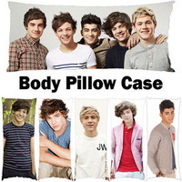 One Direction 1D 21&quot;X54&quot; Photo Body Pillow Bolster Case (Dakimakura)
