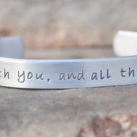 One Direction inspired  hand stamped Bracelet with by brandedheart