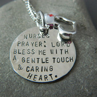 Nurses Prayer  Handstamped Necklace