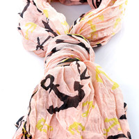 Effortless Anchor Scarf - Unique Vintage - Cocktail, Pinup, Holiday & Prom Dresses.
