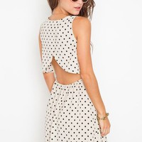 Dot Cutout Dress in  Clothes Dresses Day at Nasty Gal