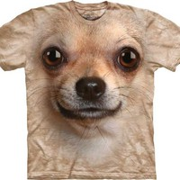 Chihuahua Face The Mountain Tee Shirt