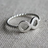 Infinity Ring - sterling silver with signature twist band
