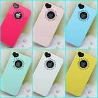 premium high gloss sparkly mint hard case cover skin for iphone 4 4s 4g heart