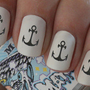 Nail Wraps Nail Art Anchor Nautical Water Transfers Decal Natural / False Nails