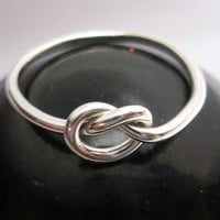 Knot Ring in Sterling Silver by isidro on Etsy