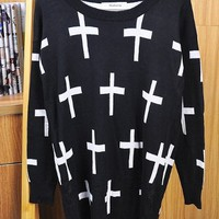 Cross Sweater (multiple colors) from For The Home