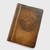 Vintage Passport cover Real leather Passport cover Handmade passport cover Latvia vintage 1990s