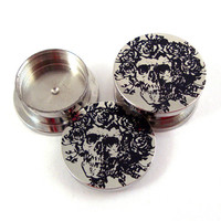 "Skeleton Stash Plugs - Surgical Steel - 0g (8 mm) 00g (10mm) 7/16"" (11 mm) 9/16"" (14mm) 5/8"" (16mm) - Threaded Container Gauges"