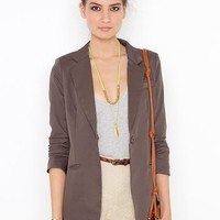 Beach Club Blazer - Mocha in Clothes at Nasty Gal