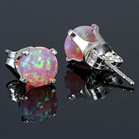 13 carats Angel Skin Pink Australian Opal Crown Set by 1000jewels