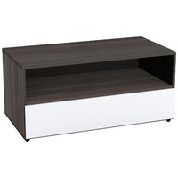 Nexera 221433 Allure 36-Inch TV Stand, Ebony and White