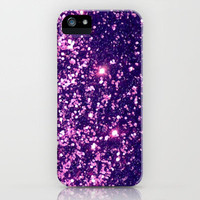 Purple Magenta Sparkle Blur iPhone Case by Rex Lambo | Society6