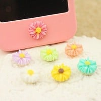 iPhone Home Little Daisy Button Sticker for iPhone 4,4s,5, iPad from LOOBACK