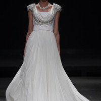Scoop Front White Bridal Gown