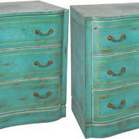 One Kings Lane - Berkshire Home & Antiques - Midcentury Painted Commodes, Pair