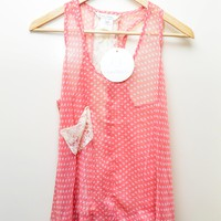 XS: Costa Blanca Polka Dot Tank