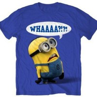 Amazon.com: Despicable Me Whaaa Minion T-shirt (Small, Royal Blue): Clothing