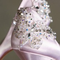 Butterfly Shoes Hand Embellished With Handsewn Crystal by Parisxox