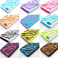 For iPhone 5 Zebra Hybrid Impact Combo Hard Soft Skin Case Cover 5G Accessory