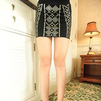 Studded Bodycon Skirt -more colors from CATPRINCESS CLOTHING