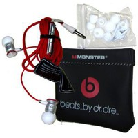 Amazon.com: Monster ibeats Beats by Dr. Dre White/Red High Performance In-Ear Headphone Earphone for iPod, iPad, iPhone3G, iPhone 4, iPhone 4S, Android, Smartphone, Galaxy S and other 3.5mm MP3 Devices - BULK Packaging: MP3 Players & Accessories