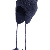 Navy criss cross trapper hat - Hats - Accessories - Dorothy Perkins