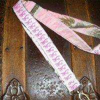 Pink Real Tree Lanyard with deer