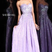Sherri Hill Dress 8437 at Peaches Boutique