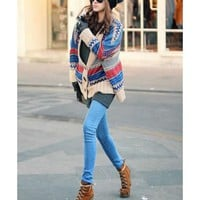 *Free Shipping* Ladies Blue Fashion Sweater One Size T615