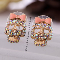 Crystal Skull Studs