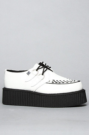 The Mondo Creeper Shoe in White Leather