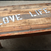 Reclaimed Wood  Rustic Coffee Table