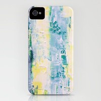 green and yellow whitewash iPhone Case by BrickHouseArt | Society6