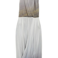 Julie Haus South Terrace Morning Fog printed silk-crepe dress - 55% Off Now at THE OUTNET