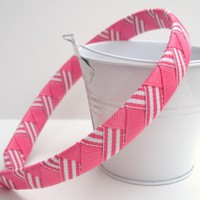Pink Chevron Headband  on Luulla