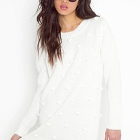 Bobble Knit Dress - Ivory