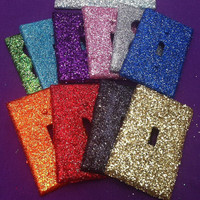 Glitter Light Switch / Outlet Cover - LOVE