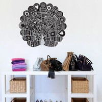 Blik Wall Decals: Peacock at Night by Threadless