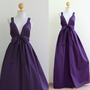Plum Maxi dress  Empire Cocktail Bridesmaid Summer von Nuichan