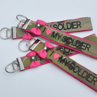 Multicam Key Chain FOB - Army wife multicam keychain