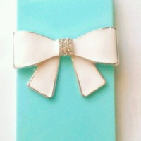 Tiffany Blue iPhone 4 Case w White Bow