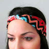 Chevron tribal Infinite Twisted head band