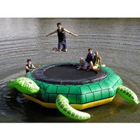 Amazon.com: Island Hopper Turtle Jump 15 Foot Water Trampoline 2012: Sports & Outdoors