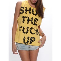 Shut The Fuck Up Women's Muscle Tee